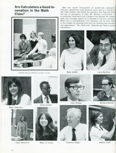 Dover High School Math Teachers Dover High School Yearbook, 1965 State Reports Collection (RG 1325-003-147-8075)