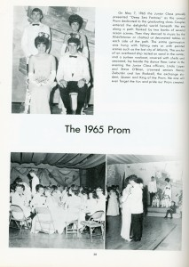 Prom, Dover High School Yearbook, 1965 State Reports Collection (RG 1325-003-157-8075)