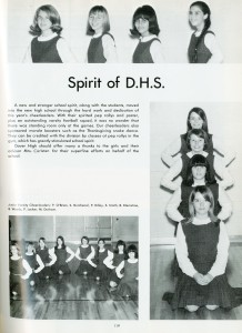 Dover High Cheerleaders Dover High School Yearbook State Reports Collection (RG 1325-003-8075)