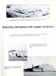 New Construction in Laurel School District, 1956 Laurel High School Yearbook Laurel High School (RG 8110-000-001)