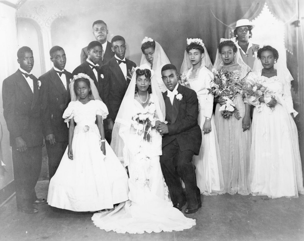 The Wedding Party of Mr. and Mrs. Lawrence West