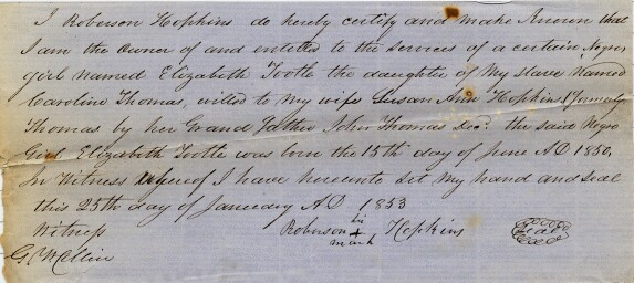 Slavery Papers - Delaware Public Archives