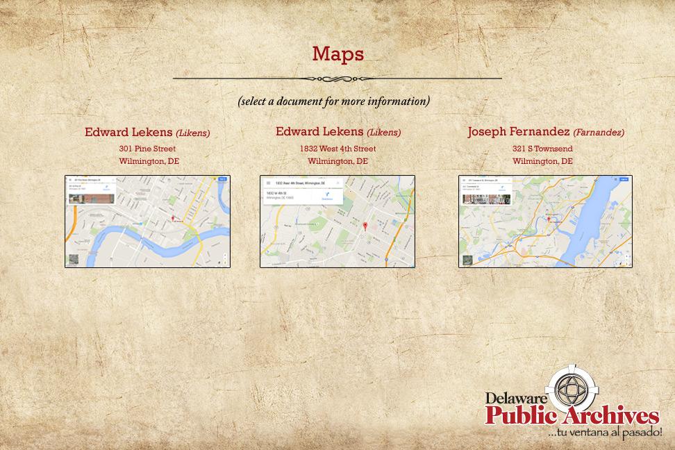 First Hispanic Settlers Maps