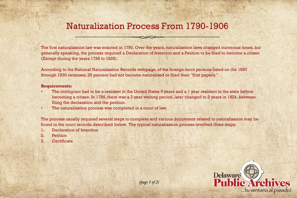 Introduction to Naturalizations