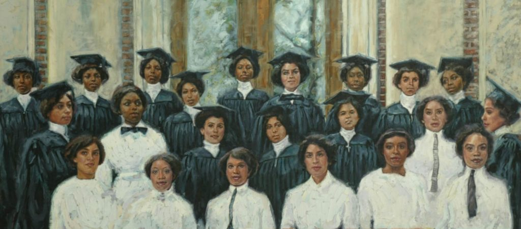 Painting of Delta Sigma Theta