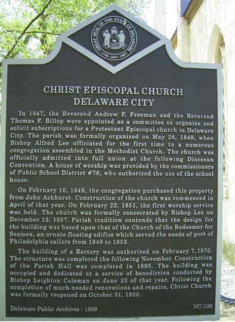 NC-100: Christ Episcopal Church Delaware City