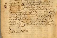 1685: Iwottama Sawum sells land to Norton Claypoole and Matthew Taylor