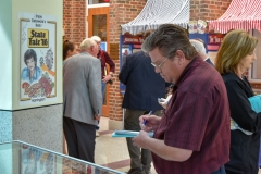 Guests admire the exhibit artifacts