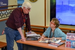 Author Robin Brown autographing copies of Treasured Traditions