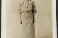 Suffragist, Abby Scott Baker, in a prison dress in 1917