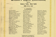 """The Declaration of Sentiments was created. In 1840, Lucretia Mott and Elizabeth Cady Stanton are barred from attending the World Anti-Slavery Convention held in London. This prompts them to hold a Women's Convention in the U.S. In 1848, Elizabeth Cady Stanton writes """"The Declaration of Sentiments"""" and presents it at the Seneca Falls, NY Women's Rights Convention."""