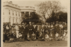 """Women ask President Harding for Equal Rights Legislation. Fifty prominent members of the New National Woman's Party called at the White House to ask the President's Aid in passing an """"Equal Rights Bill"""" in the next Congress. The bill would give women full equality in the government."""