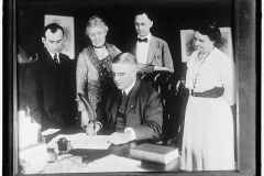 Nineteenth Amendment Passes in the Senate and the ratification process begins. Gov. Sproul of Pennsylvania is signing the Suffrage Amendment