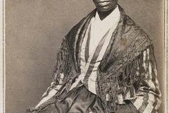 "Sojourner Truth, a former slave, delivers her memorable ""Ain't I a woman?"" speech at a women's rights convention in Akron, Ohio."