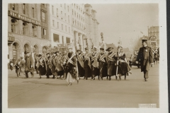 Women matching in a national suffrage demonstration in Washington, D.C. on May 9th, 1914