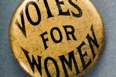 A Woman's Suffrage pin.