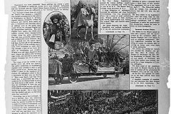 """The front page of the """"Woman's journal and Suffrage news"""" with the headline: """"Parade Struggles to victory despite disgraceful scenes. Alice Paul and Lucy Burns organized a parade down Pennsylvania Avenue in Washington, D.C."""