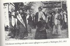Ida B. Wells marching in 1913