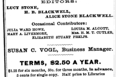 The Woman's Journal is founded and edited by Mary Livermore, Lucy Stone, and Henry Blackwell.
